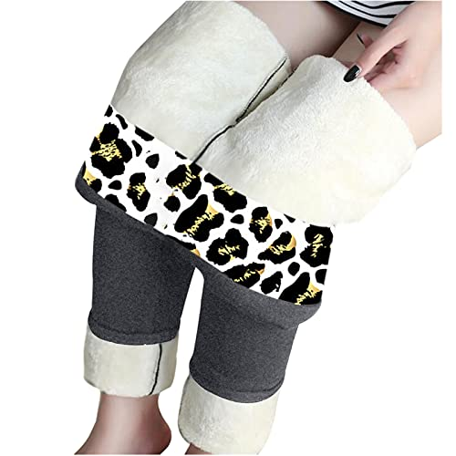 FeelFree+ Leggings Térmicos Pantalones Mujer Además de Terciopelo Grueso Invierno Cálidos Deportivos Largos Leggins con Forro Polar de Cintura Alta Elásticos Forrado Calientes para Correr Yoga