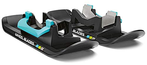 Wheelblades XL Ski für Fahrradanhänger und Kinderwagen zum Fahren auf Schnee im Winter, Anzahl:Paar (2 Stück)