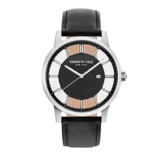 Kenneth Cole KC50560001 Reloj Kenneth Cole KC50560001de Hombre Análogo for Accesorios, Negro, Hombre Estándar