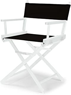 Telescope Casual Heritage Dining Height Director Chair, Black with White Frame