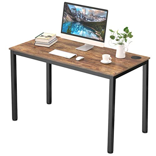 Eureka Ergonomic Computer Desk 47 inch, Study Writing PC Desk Table for Home Office, Rustic Brown