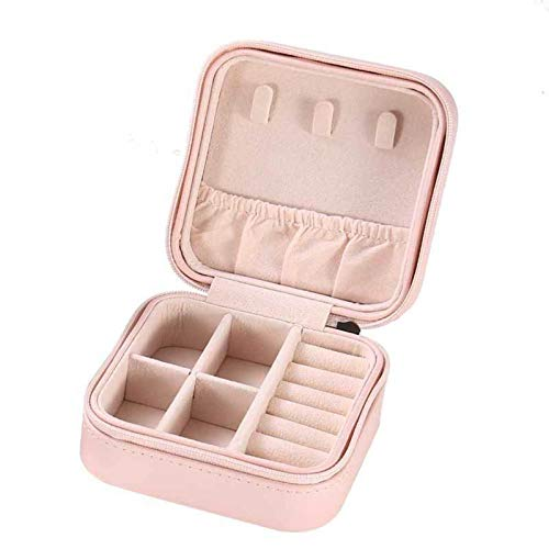 N-B Portable Jewelry Storage Box Earrings Earrings Ring Jewelry Box Zipper Jewelry Box