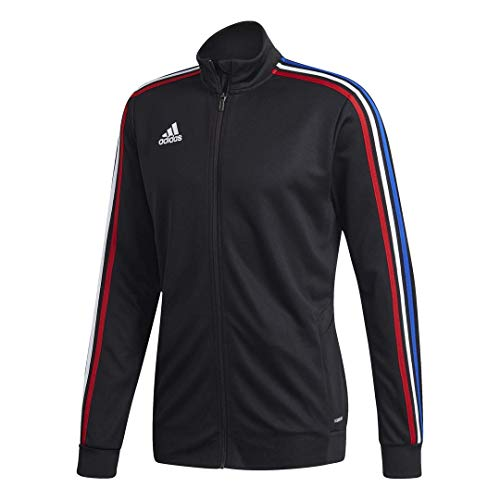 adidas Men's Soccer Tiro Track Jacket Black/Power Red/White/Bold Blue Small