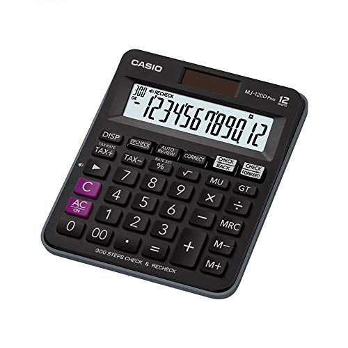 Casio MJ-120D Plus - BK 300 Steps Check and Correct Desktop Calculator...