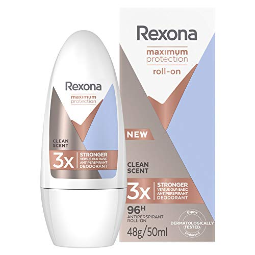 Rexona Maximum Protection - Desodorante Roll On Antitransiprante Clean Scent 50 ml