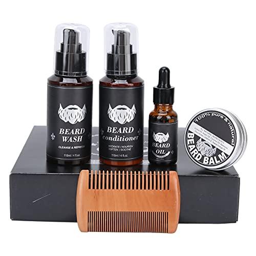 Kit de cuidado de barba para hombres, kit de cuidado de barba, acondicionador de barba, champú/lavado de barba, aceite de barba, crema de barba, regalos para el cuidado del crecimiento de la barba p