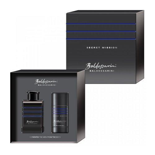 Baldessarini Secret Mission homme/men, Geschenkset (Eau de Toilette, 50 ml + Deodorant Stick, 40 ml), 1er Pack (1 x 1 Stück)
