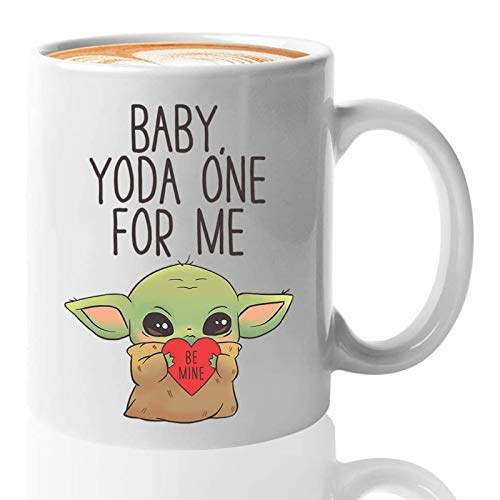 Baby Jou Da Coffee Mug 11 Oz, Funny Scifi Coffee Mugs for Girlfriend Boyfriend