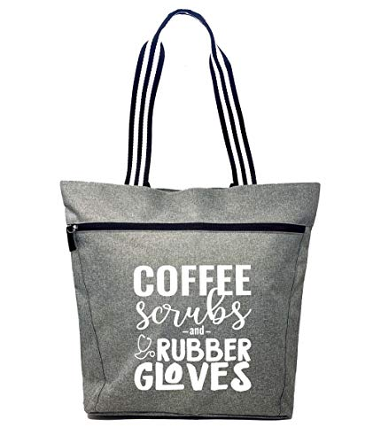 I'm a Nurse, What's Your Superpower Natural - Large Nursing Basic Tote Bags for Nurses - Perfect for...