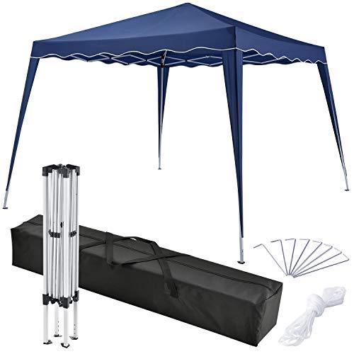 ArtLife Faltpavillon Vivara 3x3 m - Pavillon inkl. Tasche wasserabweisend höhenverstellbar faltbar blau Pop-up Gartenzelt Partyzelt