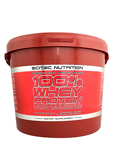 SCITEC NUTRITION 100% Whey Protein Professional 5000g qer pack 5kg Molkenproteinpulver Protein Chocolate Coconut Geschmack