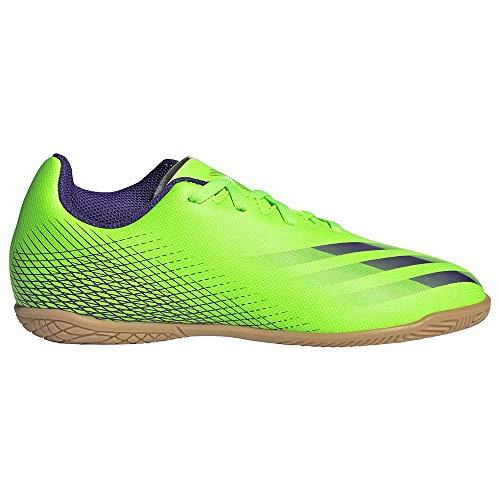 adidas X Ghosted.4 IN Niño, Zapatilla de fútbol Sala, Signal Green-Energy Ink-Signal Green, Talla 5.5 UK (38 2/3 EU)