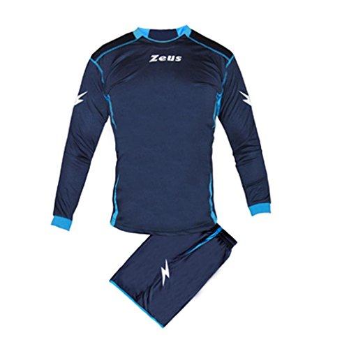 Kit Zeus Sparta Blu-Royal Completino Completo Calcio Uomo Donna Calcetto Muta Torneo Scuola Sport (XS)