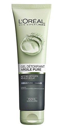 L'Oréal Paris Gel Nettoyant Detox Visage à l'argile et au charbon150 ml