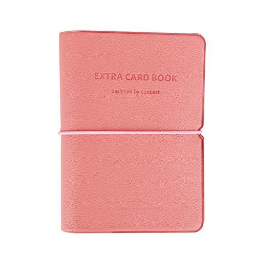 JIAHG Premium PU Leder Kreditkartenetui Kartenetui Busineß Visitenkartenetui Ausweishülle Credit Card Holder für bis zu 30 Scheckkarten, mit stabilem Gummiband