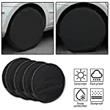 Tire Covers 4 Pack,Set of 4 Wheel Tire Covers for RV Auto Truck Car Camper Trailer,Waterproof Sun-Proof Weatherproof Tire Protectors(Fits 27