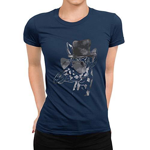 TeezoneDesign DamesT-shirt Giraffe Dieren Grappig Ontwerp Kleding Kleding Lijn