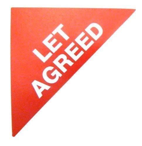Immobilienverkäufe Etiketten, Text: Lassen Sie sich, Rot, groß, dreieckig, Kombi &Letting Agent selbstklebende Sticker