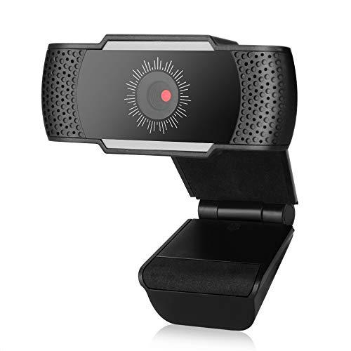 WarmBlood 1080P HD Pro Webcam per PC desktop e computer portatili – Videocamera Web per computer con microfono integrato USB Plug-Play microfono stereo trasparente per Skype/Live Streaming/videochiamate/Studio/Conferenze/Gaming