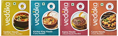 Amazon Brand - Vedaka Masala Combo Pack- Garam Masala (100g), Kitchen King Masala (100g), Rajma Masala (100g) & Sambar Masala (100g)