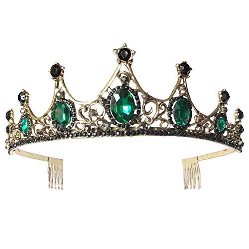 Diamantes de imitación Corona Boda Novia Tiara Exquisita Elegante Tocado Fiesta Corona...