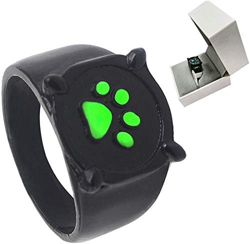 LHASD Cat Noir Ring Anime Cosplay Disfraz Accesorios de aleacin de Zinc Dia Fancy Dress Pandent Halloween Box Set