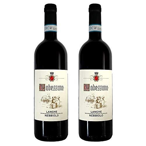Rabezzana - Langhe Nebbiolo DOC - 2 Bottiglie da 75 cl - Vino Rosso Rubino Robusto e Equilibrato - Profumo Caratteristico - Sapore Secco con Note Speziate (2)