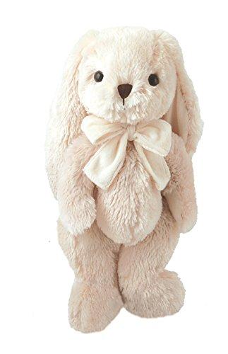 Lashuma Premium Stofftier Hase Andre, Designer XXL Häschen aus Plüsch, Größe: 40 cm, Beiges Kuscheltier Kaninchen