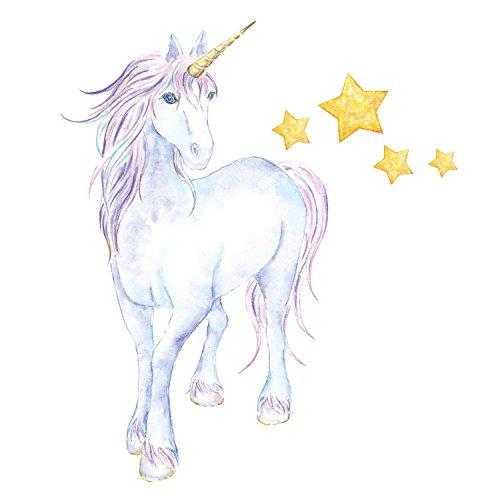 Mythischer Einhorn und Sterne Wandtattoo Einhorn Wandsticker | Kinderzimmer Dekor