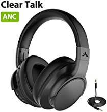 Avantree ANC031 Active Noise Cancelling Headphones Over Ear with Microphone for Home Office, Conference Call, Wireless Wired ANC Sound Proof Hi-Fi Stereo Bluetooth Headset with Mic for TV PC Computer