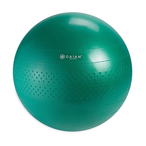 Gaiam 05-51982 Total Body Balance Ball Kit - Includes 65cm Anti-Burst Stability Exercise Yoga Ball, Air Pump & Workout Video - Green