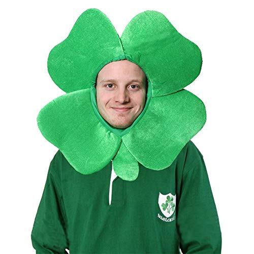 I LOVE FANCY DRESS LTD IRISCH KLEE Hut 4 Blatt Kleeblatt NEUHEIT GLÜCKSBRINGER Kapuze Irland Sport ANHÄNGEREN KOSTÜM ZUBEHÖR ST Patrick's Day