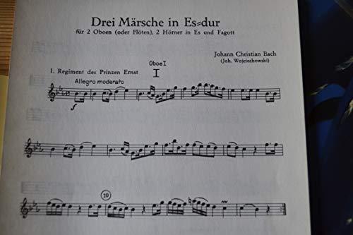 J. Ch. BACH - Juego de 3 cuernos para oboe y fagot