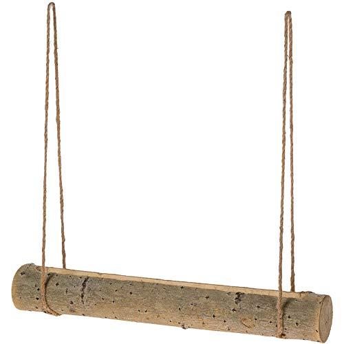 matches21 Holzstamm Holz Stamm Pflanzgefäß mit Kordel zum Hängen länglich Pappel Natur/braun 1 STK. 50x7 cm- 2 Größen