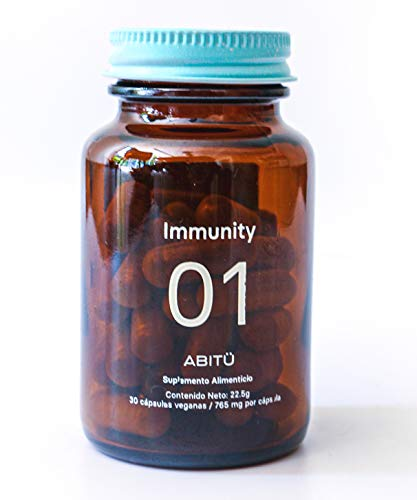 Immunity (Suplemento alimenticio para reforzar el sistema inmunológico con Vitamina D3, Vitamina C, Zinc, Antioxidantes), 30 cápsulas, veganas, libres de OGM, sin glúten