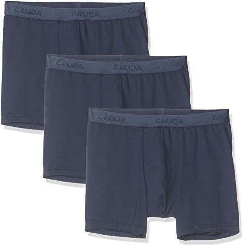 CALIDA Herren Natural Benefit Boxershorts, Blau (Indigo Mood 509), X-Large (Herstellergröße:XL)