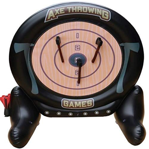 MD Sports 2 in 1 Axe Throwing and Dartboard Challenge