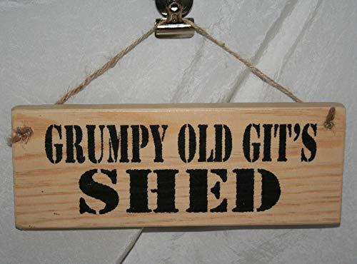 Yohoba Grumpy Old Git'S Shed Adult Rude Hanging Door Sign Plaque Home Office Garage