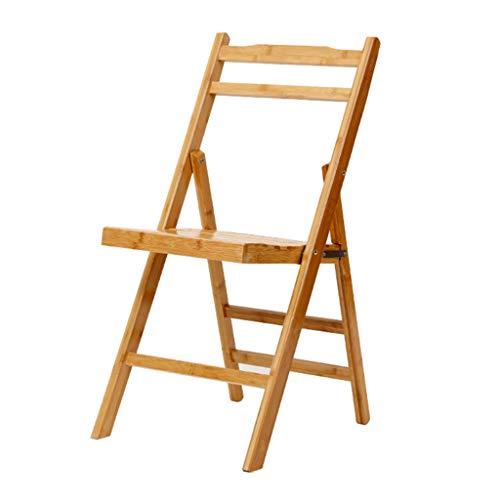 Sillón Plegable de Madera, Silla de Comedor Plegable para Exteriores, sillas de Comedor para Patio con Respaldo reclinable de Varias Posiciones, Patio, terraza, césped, jardín