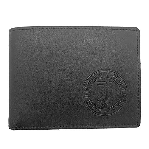 Juventus 133062 - Cartera de Piel Producto Oficial para Hombre, Color Negro, 125 x 95 x 30 mm