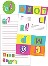 iscream 'Color Block Camp' Pack of 8 Fold-Over Cards with Flip Sticker Seals