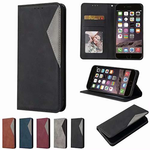 Handyhülle für Xiaomi Poco X3 Pro/POCO X3 NFC Hülle Leder, für Xiaomi Poco X3 Pro/POCO X3 NFC Lederhülle Kreditkarten, Geldfächern & Standfunktion Handytasche Hülle Handy Hüllen Schwarz