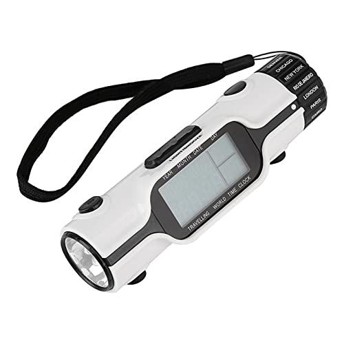 Meiyya Reloj de Viaje de Hora Mundial, Pantalla LCD Reloj Despertador Digital, Reloj Despertador de Viaje Ligero 5.12 * 1.50 * 1.57in para Viajes al Aire Libre Camping Senderismo