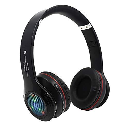 QLMY Active Noise Cancelling hoofdtelefoon inklapbaar HiFi Stereo draadloze oorschelphoofdtelefoon met ingebouwde microfoon Bluetooth hoofdtelefoon voor mobiele telefoon en laptop