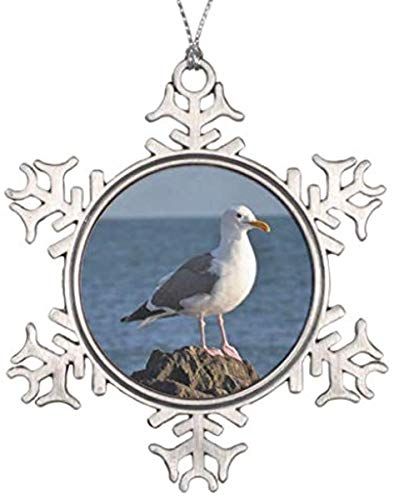 JamirtyRoy1 3' Snowflake Ornament, Christmas Ornament, Decorations Personalized Ornament Seagull Print Christmas Ornament Keepsake Gift, Christmas Decor