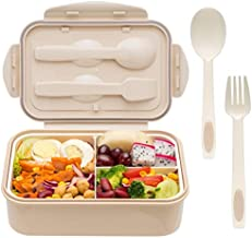 Bento Boxes for Adults - Bento Box For Kids Childrens With Spoon & Fork - Durable, Leak-Proof for On-the-Go Meal, BPA-Free and Food-Safe Materials