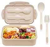 Bento Box for Adults and Kids - 1400ML Bento Box With Spoon & Fork - Durable, Leak-Proof for...