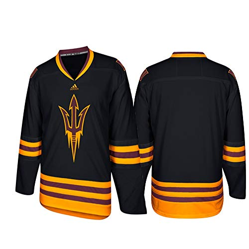 adidas Arizona State Sun Devils NCAA Men's Black Adizero Climalite Hockey Jersey (XL)