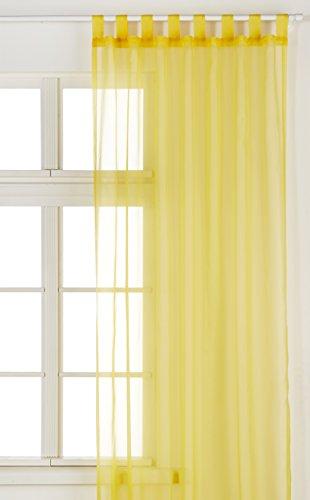 Visillo amarillo para ventanas grandes 140x245 cm