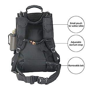 Black Military Expandable Travel Backpack Tactical Waterproof Work Backpack for Men(BLACK)
